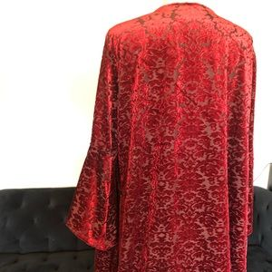 NY Collection Jackets & Coats - NY Collection Velvety Scarlet Red Cape